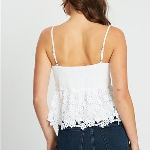 Abercrombie & Fitch crochet lace cami